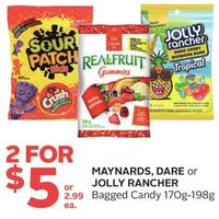 Maynards, Dare or Jolly Rancher Bagged Candy