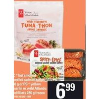 PC Hot Smoked Candied Salmon Strips Or PC Yellow Tuna Tin Or Wild Atlantic Cod Fillets