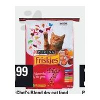 Friskies 7 or Chef's Blend Dry Cat Food