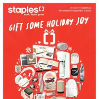 Staples - Gift Some Holiday Joy Flyer