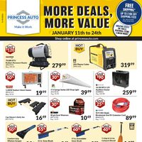 Princess Auto - January Clearance Event - More Deals, More Value Flyer