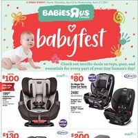 Babies R Us - 2 Week Event - Baby Fest Flyer
