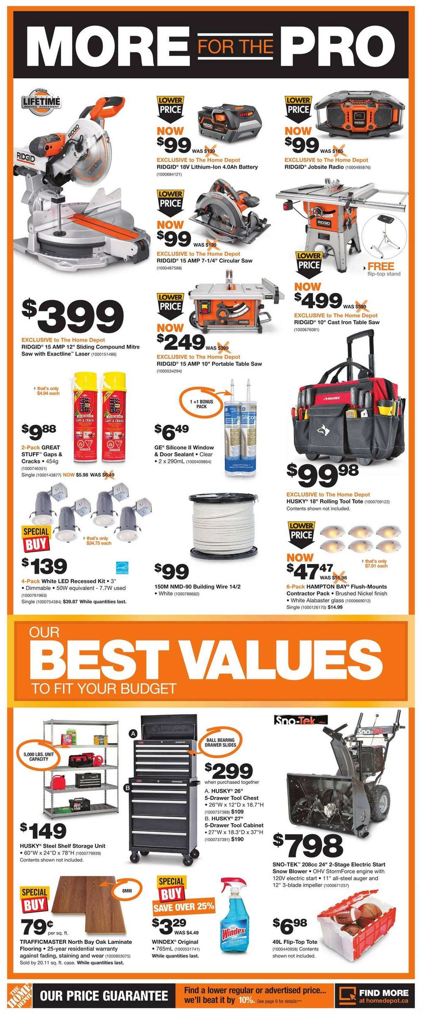 Bathroom Renovation Cost Redflagdeals home depot weekly flyer - fall into savings - oct 16 – 22