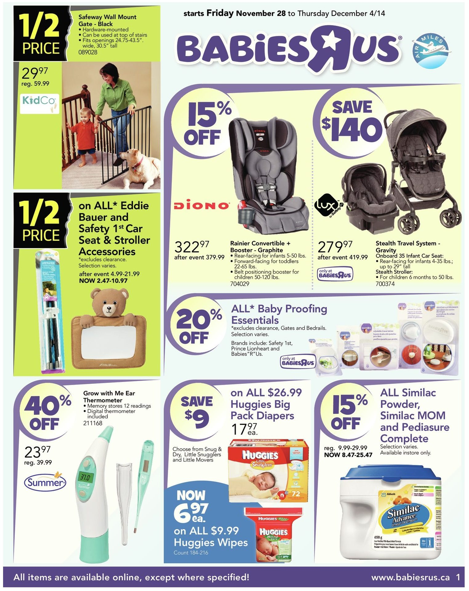 Babies R Us Weekly Flyer Black Friday Week Long Deals Nov 28