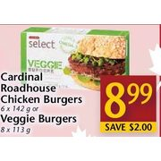 Cardinal Roadhouse Chicken Burgers Or Veggie Burgers - $8.99 ($2.00 off)