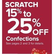 Confections - 15 - 25% off