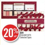 20% Off Quo Colour Sets