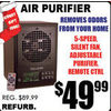 Air Purifier  - $49.99