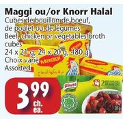 Marche Adonis: Maggi or Knorr Halal Beef, Chicken or