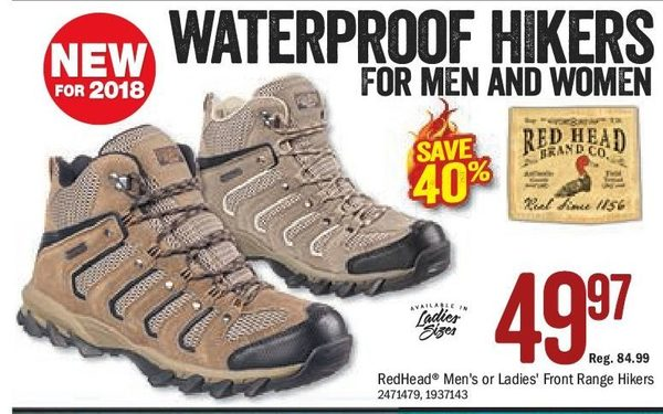 f9cce95f924166 Bass Pro Shops Redhead Men's Or Ladies Front Range Hikers - $49.97 (40%  off) Redhead Men's Or Ladies Front Range Hikers