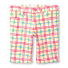 Girls Neon Plaid Woven Skimmer Shorts - $7.48 ($17.47 Off)