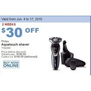 Philips Aquatouch Shaver - $119.99 ($30.00 off)