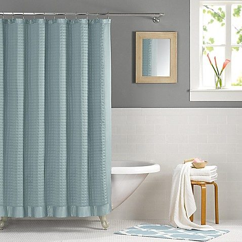 Bed Bath And Beyond Real Simple Retreat 54 Inch X 78 Shower Curtain In Azure