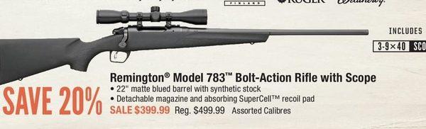 Cabelas: Remington Model 783