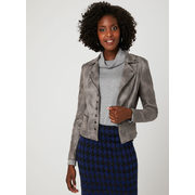 Faux Crackled Leather Jacket - $178.00