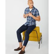 Slim Fit Short Sleeve Blue Check Shirt - $39.95 ($29.95 Off)