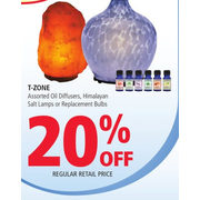 T-Zone Oil Diffusers, Himalayan Salt Lamps Or Replacement Bulbs - 20% off