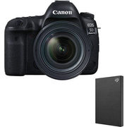 Canon EOS 5D Mark IV DSLR Camera w/ EF 24-70mm F4L IS USM Lens & Seagate 2TB Portable External HDD - $4799.99 ($160.00 off)