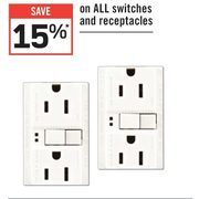 All Switches And Receptacles - 15% off
