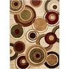 Home Dynamix Tribeca Radiating Circles Area Rug In Ivory/multicolor - $26.59 - $125.99