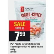 PC Pacific Large White Shrimp Cooked Peeled - $7.99 ($2.00 off)