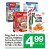 Kellogg's Cereal Froot Loops, Frosted Flakes, Corn Pops, Krave, Special K, Rice Krispies, Raisin Bran, Corn Flakes Or Mini-Wheats