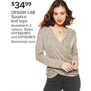 Design Lab Surplice Knit Tops  - $34.99