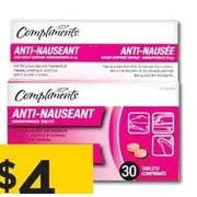 Compliments Anti-Nauseant Tablets - $4.00