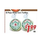 El Popo White Corn Tortillas - $1.99