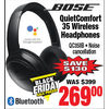 Bose QuietComfort 35 Wireless Headphones - $269.00 ($130.00 off)
