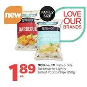 Nosch & Co. Barbecue Or Lightly Salted Potato Chips - $1.89