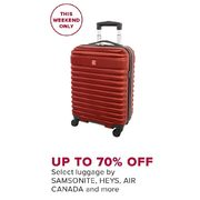 Samsonite, Heys, Air Canada And More Luggage - Up to 70% off