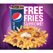Taco Bell: Free Fries Supreme with Purchase of 20 oz Drink (Facebook Coupon Required)